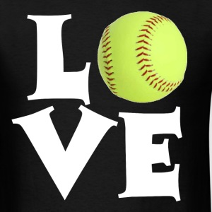 Softball Love T-Shirts - Men's T-Shirt