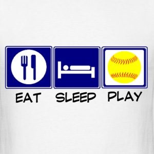 Eat, Sleep, Softball T-Shirts - Men's T-Shirt