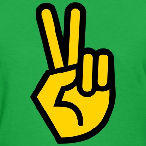 VICTORY / PEACE / TWO FINGERS T SHIRT - Women's T-Shirt