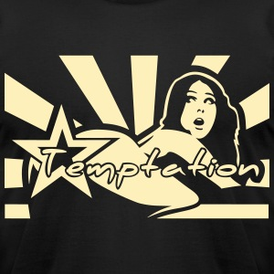 Temptation T-Shirts - Men's T-Shirt by American Apparel