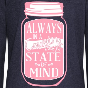 Always in a country state of mind - Country Closet Long Sleeve Shirts - Women's Wideneck Sweatshirt