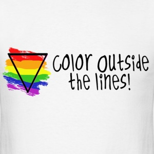 Color outside the Lines T-Shirts - Men's T-Shirt
