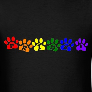 Pride Pawprints T-Shirts - Men's T-Shirt