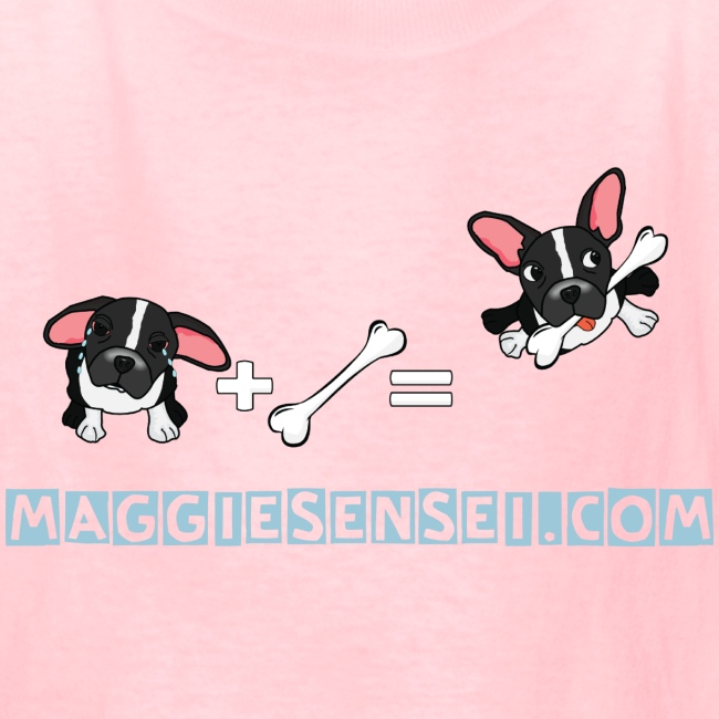Maggiesensei - The Bone Equation - blue font (Kids' T-Shirt)