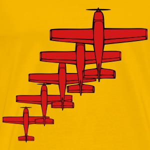 Propeller plane flying formation T-Shirts - Men's Premium T-Shirt