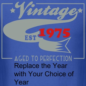 Customize this Vintage Aged to Perfection Birthday - Men's T-Shirt