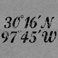 Design ~ Austin Coordinates T-Shirt (Women Gray/Black) Vintage