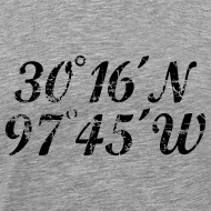 Design ~ Austin Coordinates T-Shirt (Men Gray/Black) Vintage