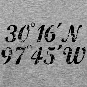 Austin Coordinates T-Shirt (Men Gray/Black) Vintag - Men's Premium T-Shirt