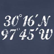 Design ~ Austin Coordinates T-Shirt (Women Navy/White) Vintage