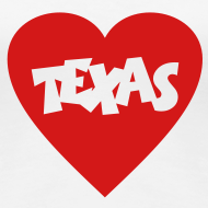 Design ~ I love Texas T-Shirt (Women)