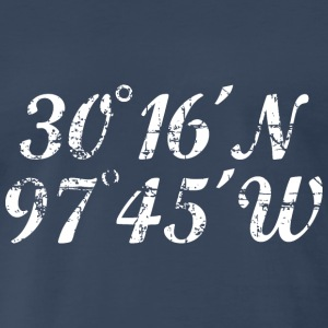 Austin Coordinates T-Shirt (Men Navy/White) Vintag - Men's Premium T-Shirt