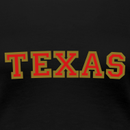 Design ~ Texas T-Shirt (Women Red/Gold)