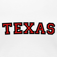 Design ~ Texas T-Shirt (Women Black/Red)