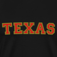 Design ~ Texas T-Shirt (Men Red/Gold)
