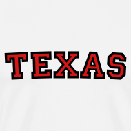 Design ~ Texas T-Shirt (Men Black/Red)