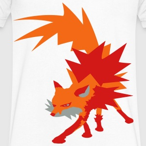 fox T-Shirts - Men's V-Neck T-Shirt by Canvas