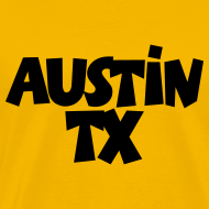 Design ~ Austin TX T-Shirt (Men Yellow/Black)