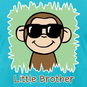 Little Brother Monkey - Men's T-Shirt by American Apparel