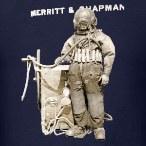 Vintage Diver with Helmet and Pump - Men's T-Shirt