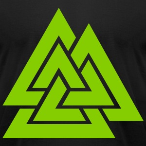 Cosmic Valknut T-Shirts - Men's T-Shirt by American Apparel