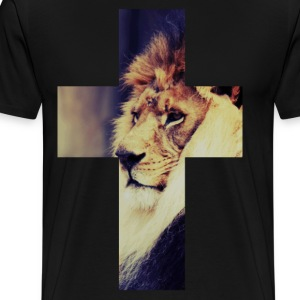 Lion Cross - Men's Premium T-Shirt
