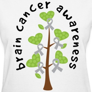 Brain Cancer Awareness Ribbon Tree Women's T-Shirts - Women's T-Shirt