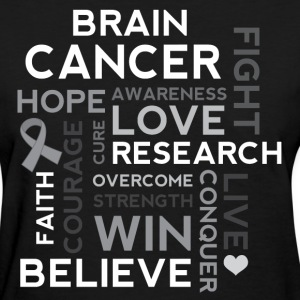 Brain Cancer Hope Fight Overcome Women's T-Shirts - Women's T-Shirt