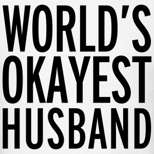 World's Okayest Husband  T-shirts - T-shirt pour hommes
