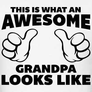 Awesome Grandpa Looks Like T-Shirts - Men's T-Shirt
