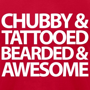 Chubby, Tattooed, Bearded  T-shirts - T-shirt pour hommes American Apparel