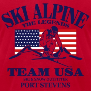 ski alpine - ski race T-Shirts - Men's T-Shirt by American Apparel