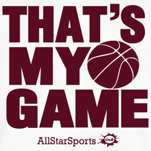 THAT'S MY GAME BASKETBALL - Men's V-Neck T-Shirt by Canvas
