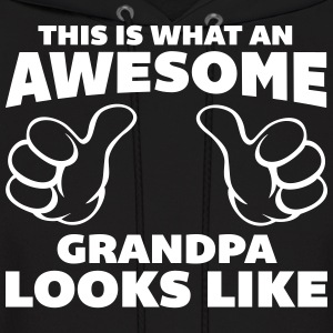 Awesome Grandpa Looks Like Hoodies - Men's Hoodie