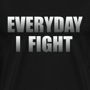 Everyday I Fight ESPN Stuart Fight Cancer - Men's Premium T-Shirt