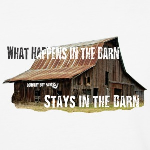 What Happens In The Barn - 3/4 sleeve - Baseball T-Shirt