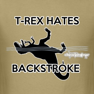 T-Rex hates Backstroke - Men's T-Shirt