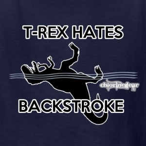 T-Rex hates Backstroke - Kids' T-Shirt