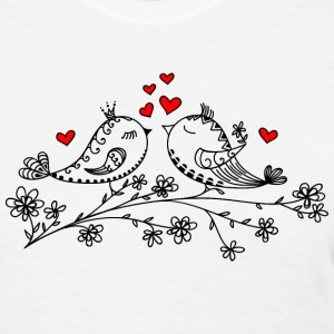 Birdie Love, Heart, Bird, Valentine`s Day, Summer Women's T-Shirts - Women's T-Shirt