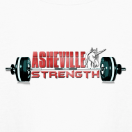 Design ~ Kids Long Sleeve White Asheville Strength Shirt
