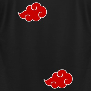 Red ninja clouds - Men's T-Shirt by American Apparel