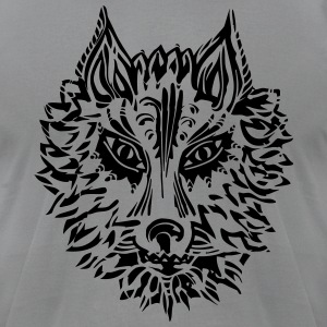 Wolf, symbol of loyalty and strength, wildlife,  T-Shirts - Men's T-Shirt by American Apparel