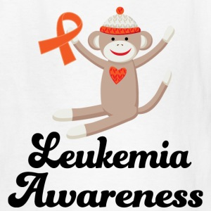 Leukemia Awareness Sock Monkey Kids' Shirts - Kids' T-Shirt