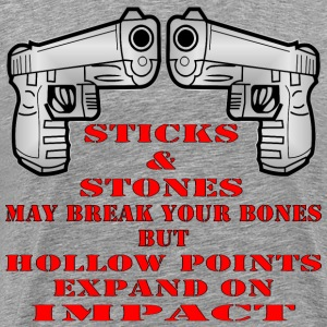 Sticks And Stones May Break Your Bones - Men's Premium T-Shirt