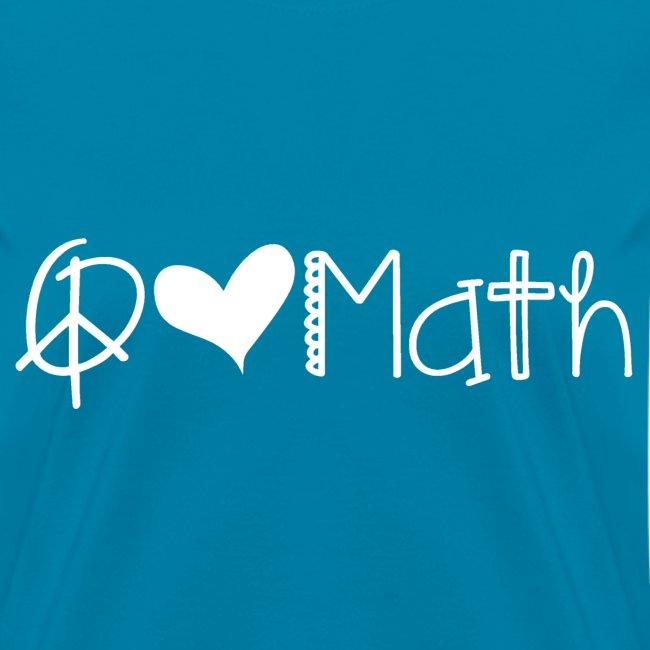 Peace love math white image