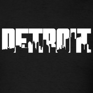 Detroit Skyline T-Shirts - Men's T-Shirt