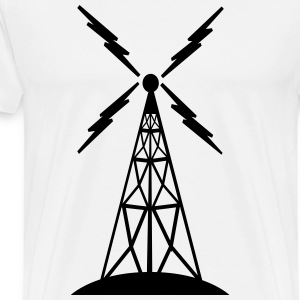 radio fm tower - Men's Premium T-Shirt