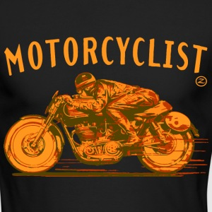 motorcyclist Long Sleeve Shirts - Men's Long Sleeve T-Shirt by Next Level