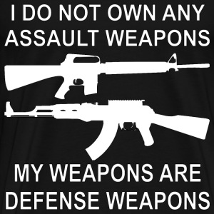 I Do Not Own Any Assault Weapons  - Men's Premium T-Shirt