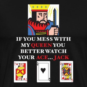 Don't Mess With The Queen - Men's Premium T-Shirt